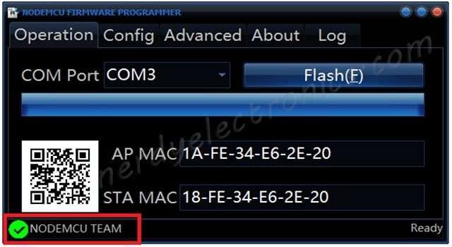 ESP8266 – Flash The nodeMCU firmware |
