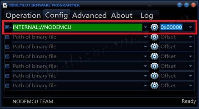 nodemcu firmware flasher config