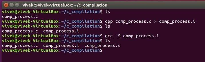 compilation process in c pdf