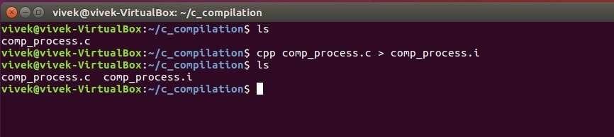 preprocessor output