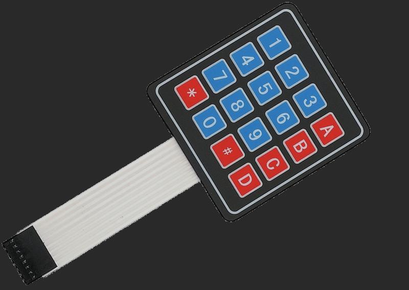 Matrix Keypad with Atmega8 – part 1